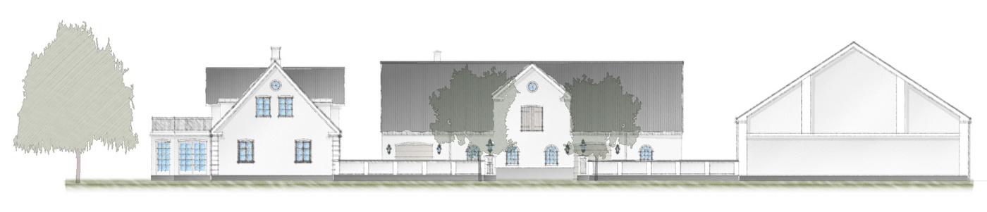 Nyt gårdanlæg opført i nyklassicistisk byggestil